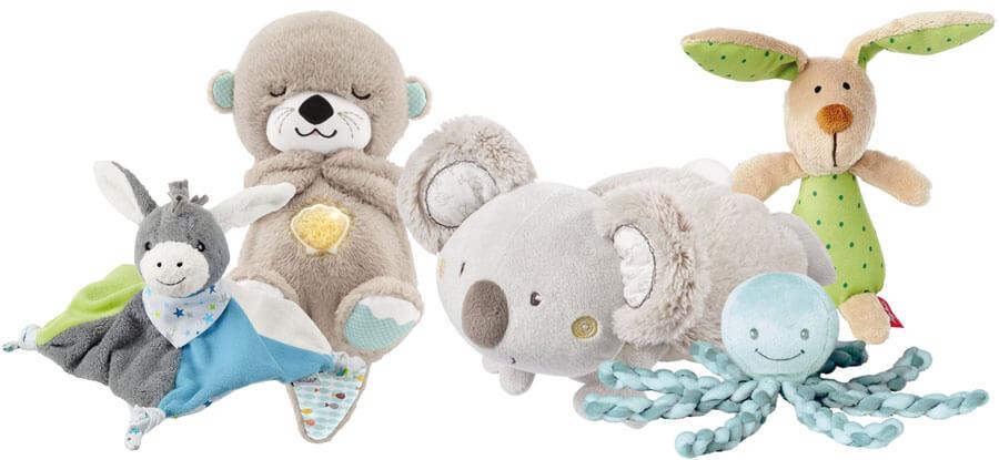 Einschlaf-Kuscheltiere für Babys