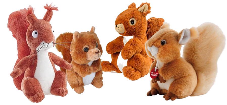 Kuscheltier-Eichhörnchen