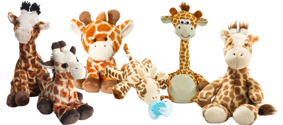 Plüschtier-Giraffen