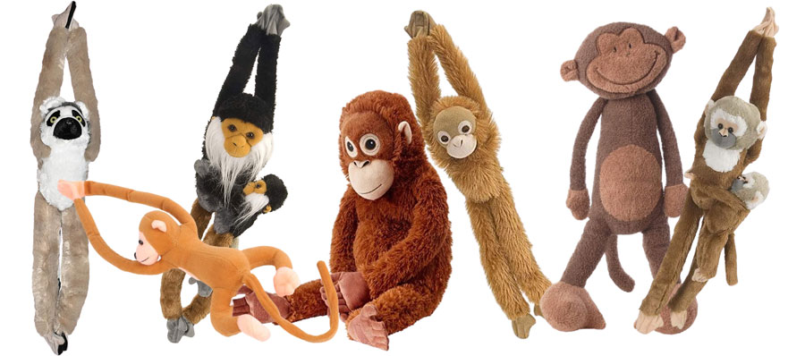 Plüschtier-Affen mit langen Armen
