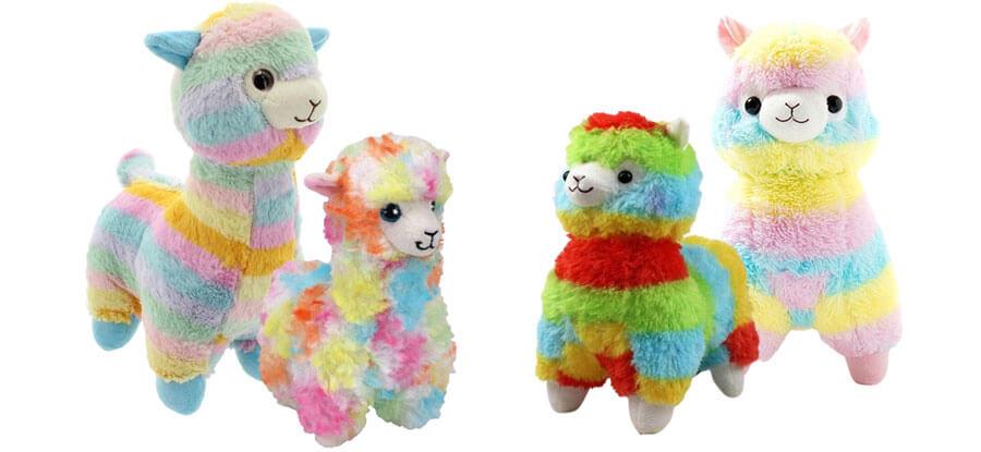 Regenbogen-Alpaka Plüschtiere