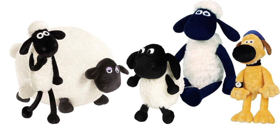 Kuscheltiere von Shaun das Schaf