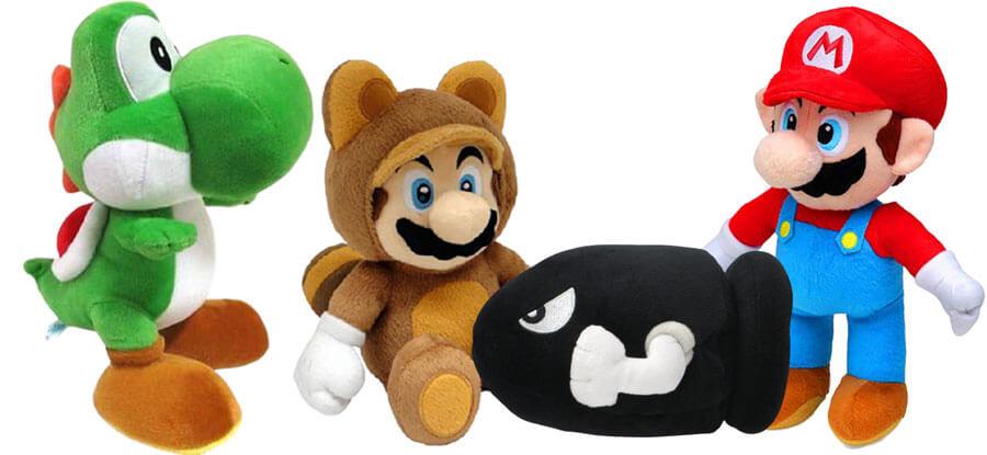 Kuscheltiere von Super Mario