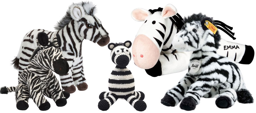 Plüschtier-Zebras